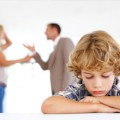 Child with arguing parents