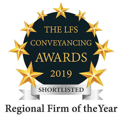 Shortlisted for the LFS Conveyancing awards 2019 for reginal firm of the year